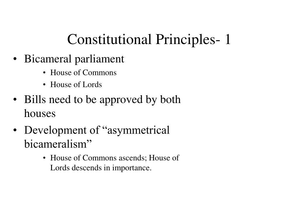 Constitutional Principles- 1