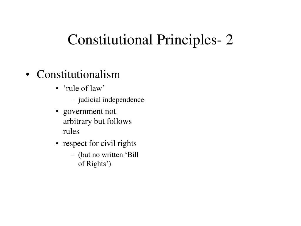 Constitutional Principles- 2