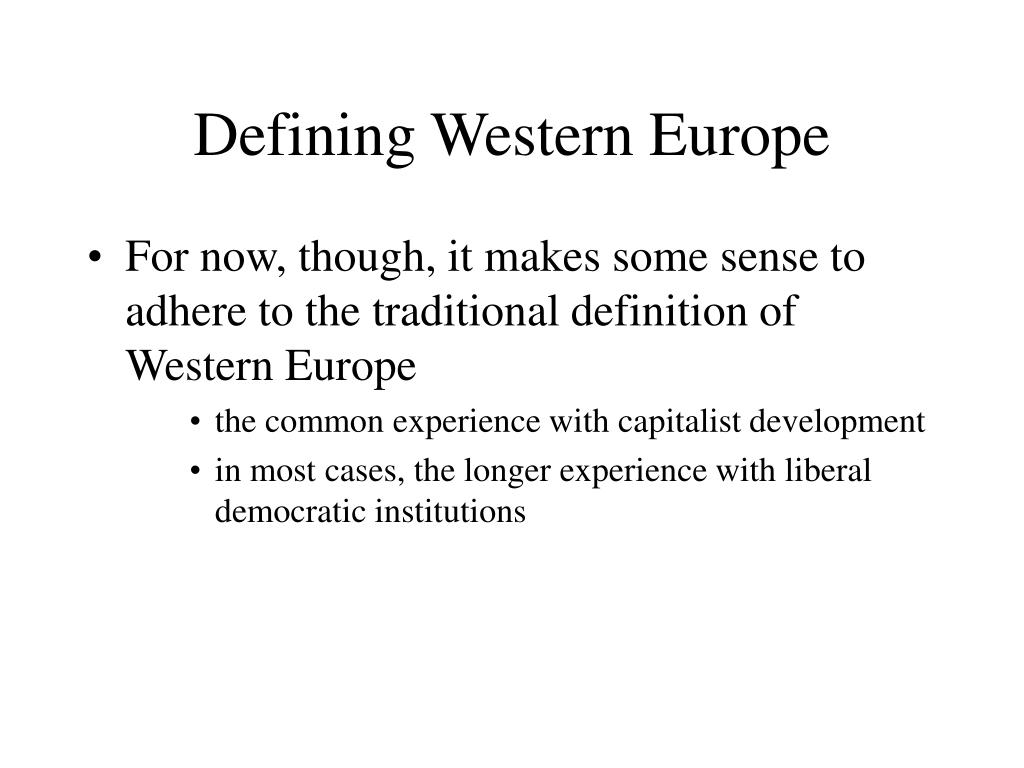 Defining Western Europe