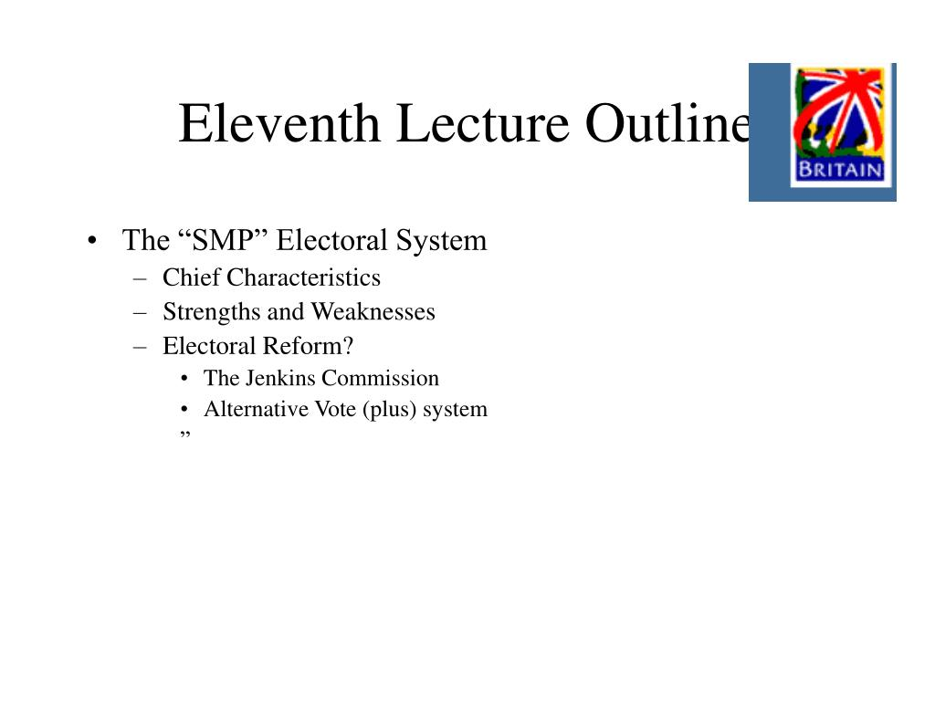 Eleventh Lecture Outline