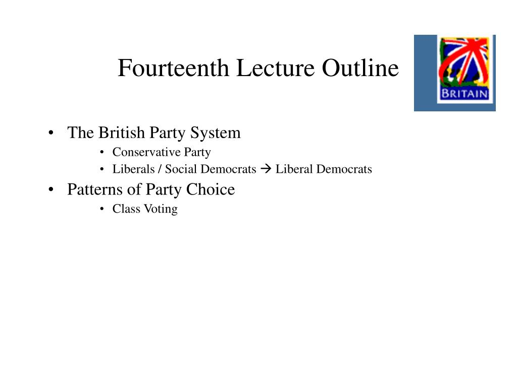 Fourteenth Lecture Outline