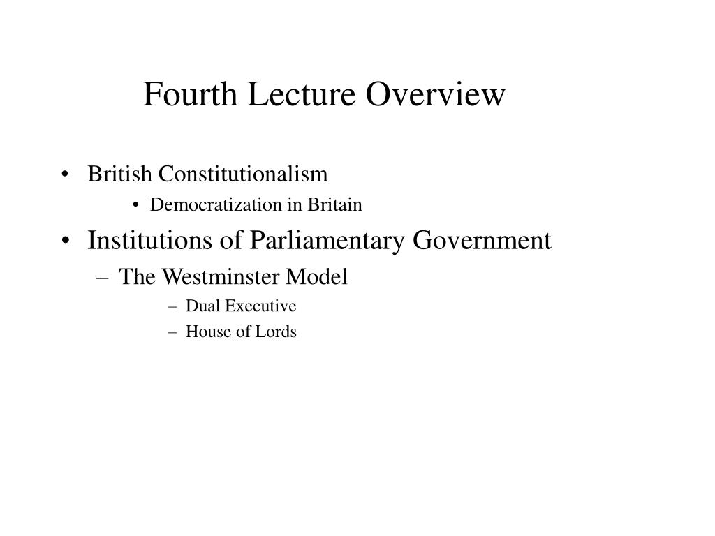 Fourth Lecture Overview
