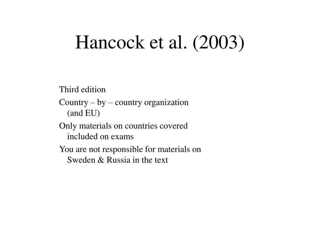 Hancock et al. (2003)