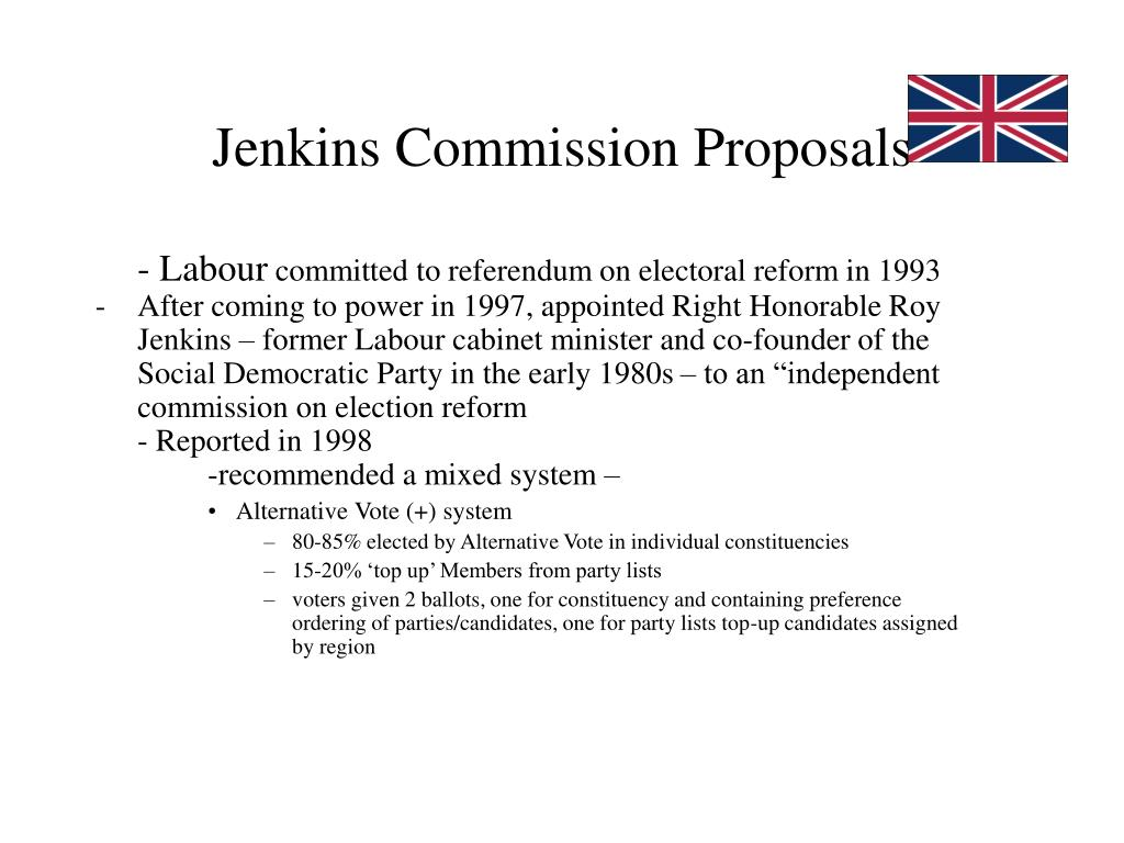Jenkins Commission Proposals