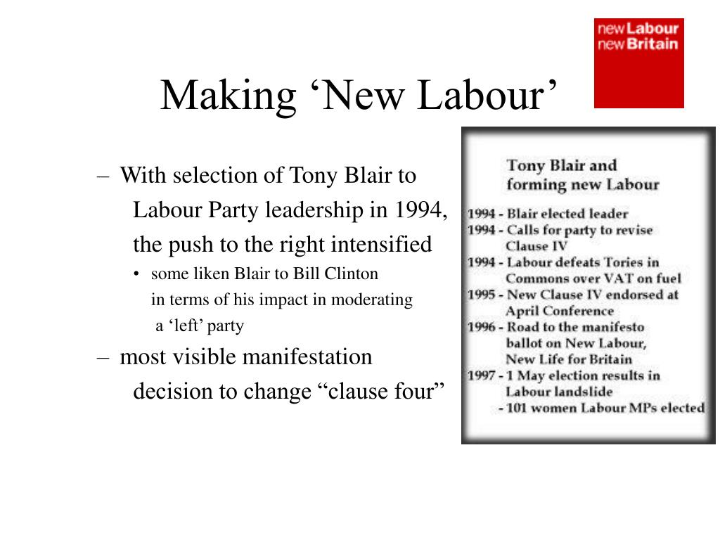Making 'New Labour'