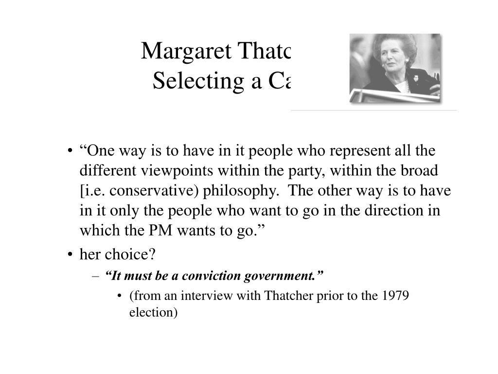 Margaret Thatcher on