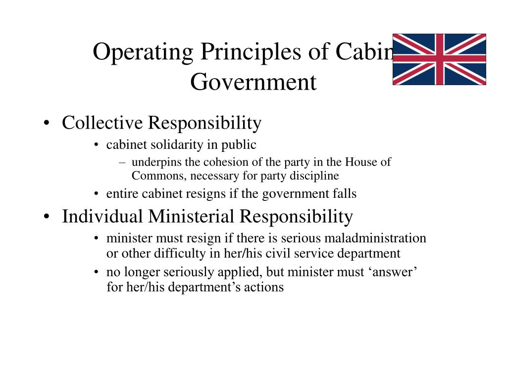 Operating Principles of Cabinet Government