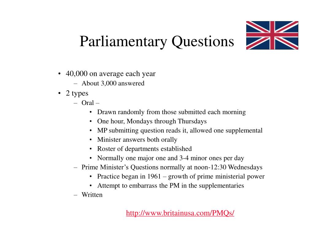Parliamentary Questions