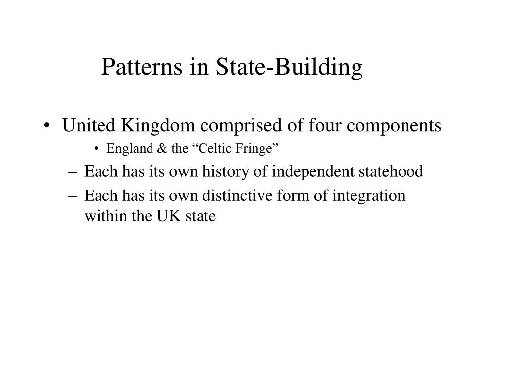 Patterns in State-Building