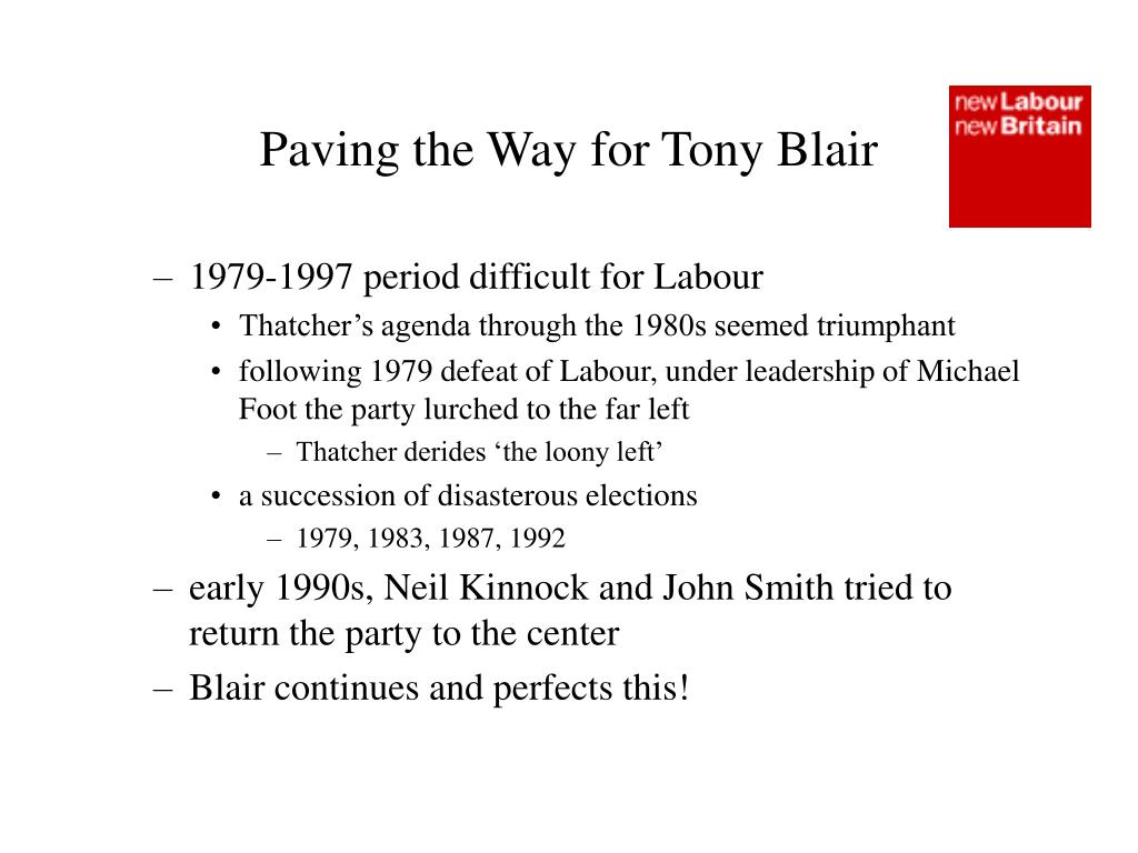 Paving the Way for Tony Blair