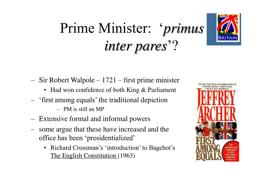 Prime Minister:  '