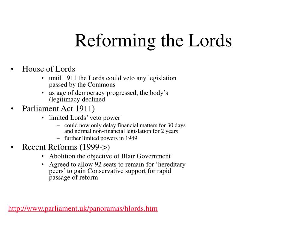 Reforming the Lords