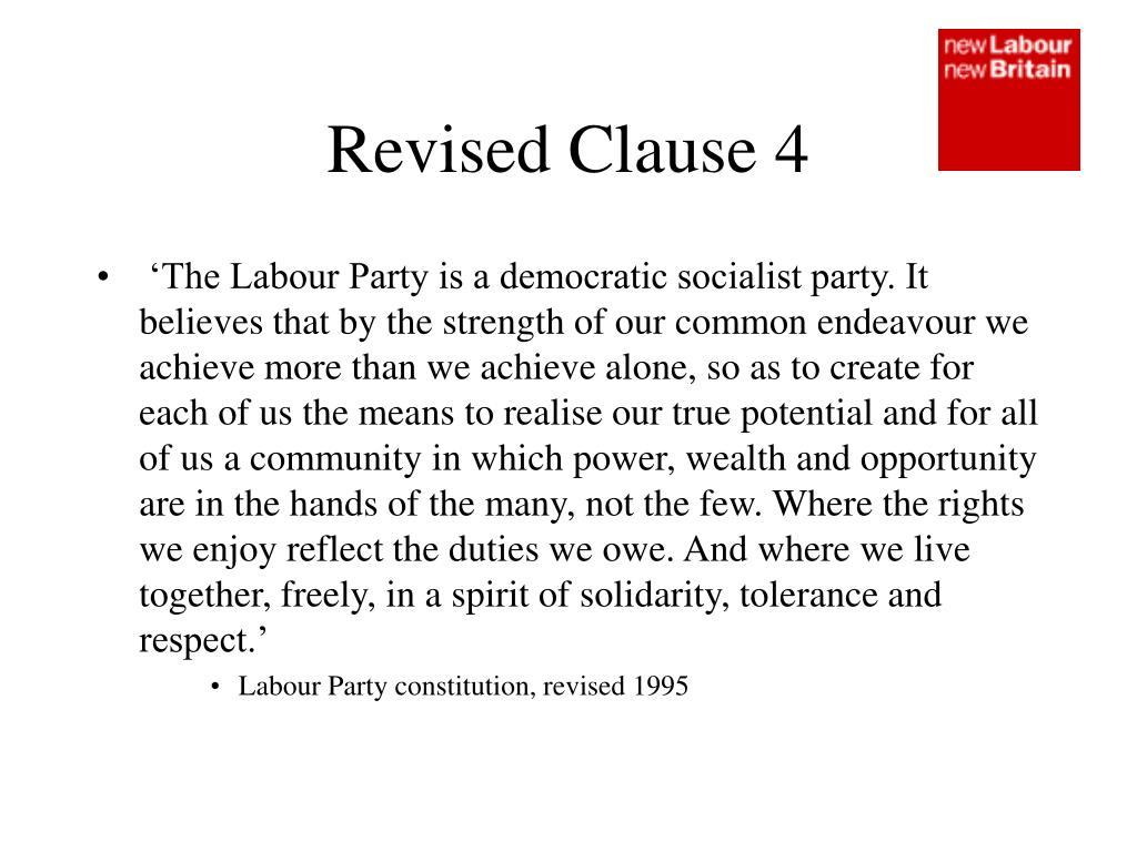 Revised Clause 4