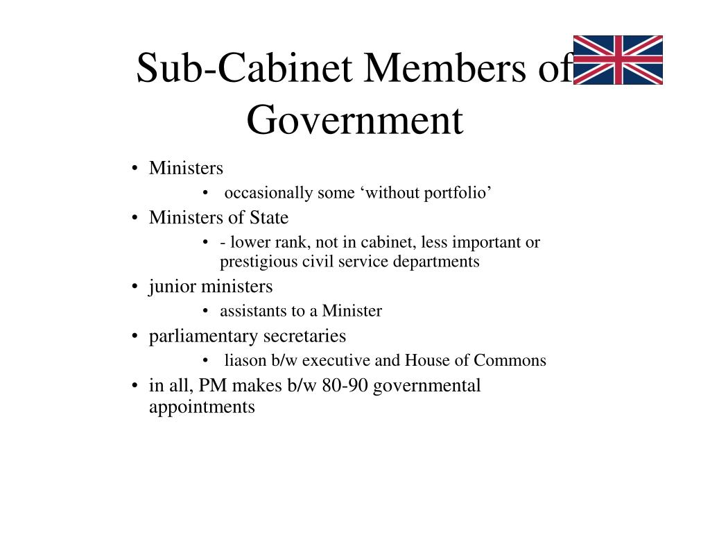 Sub-Cabinet Members of Government