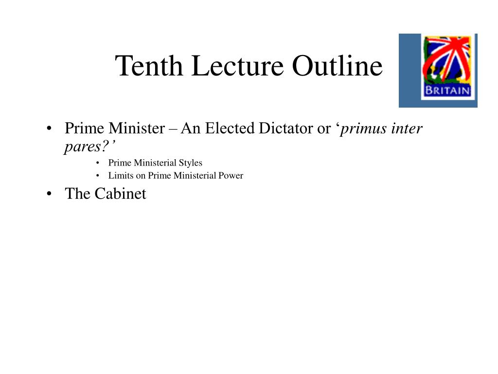 Tenth Lecture Outline