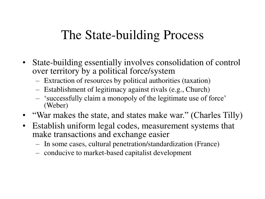 The State-building Process