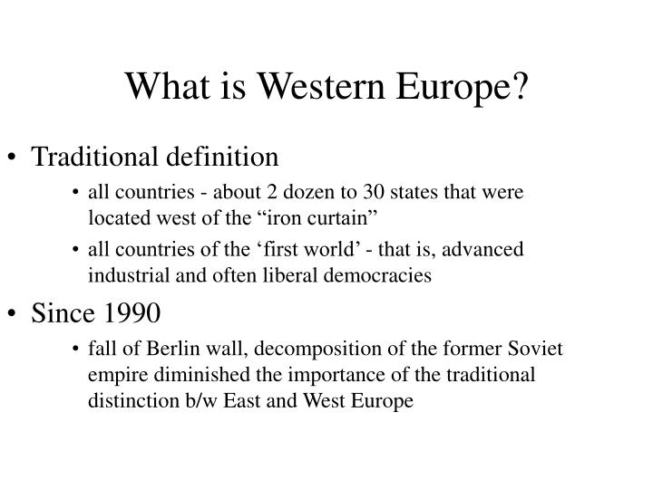 What is western europe3
