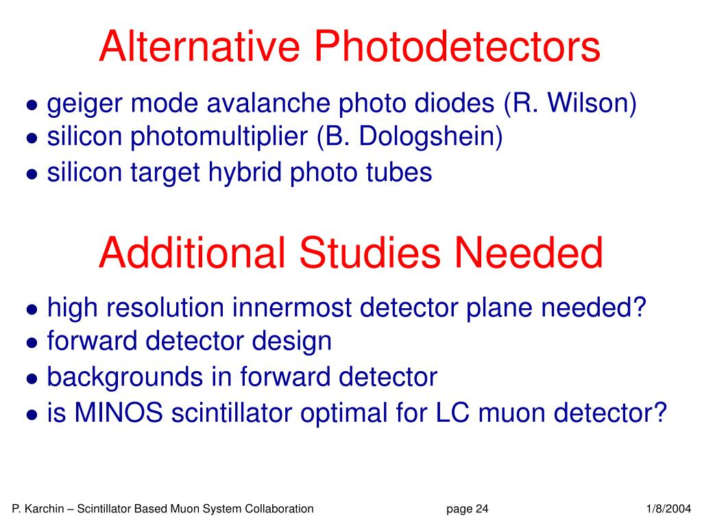 Alternative Photodetectors