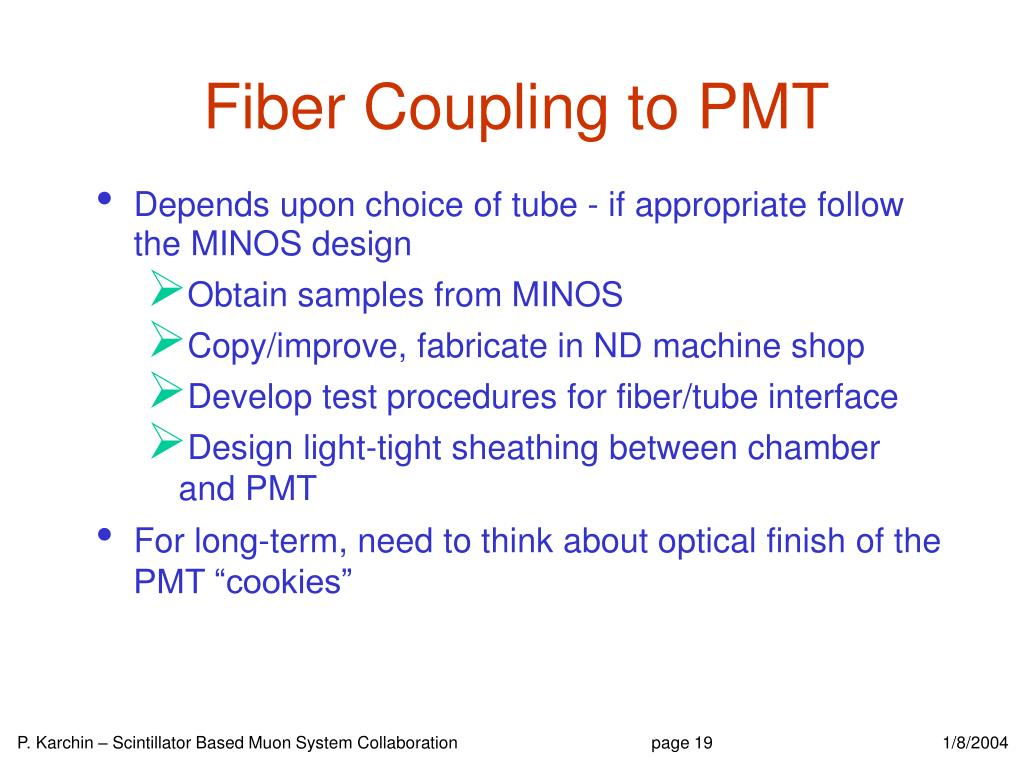 Fiber Coupling to PMT