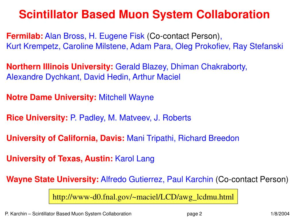 Scintillator Based Muon System Collaboration