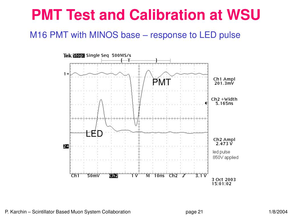 PMT Test and Calibration at WSU
