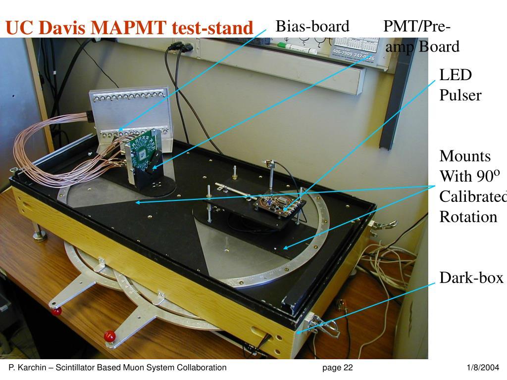 UC Davis MAPMT test-stand