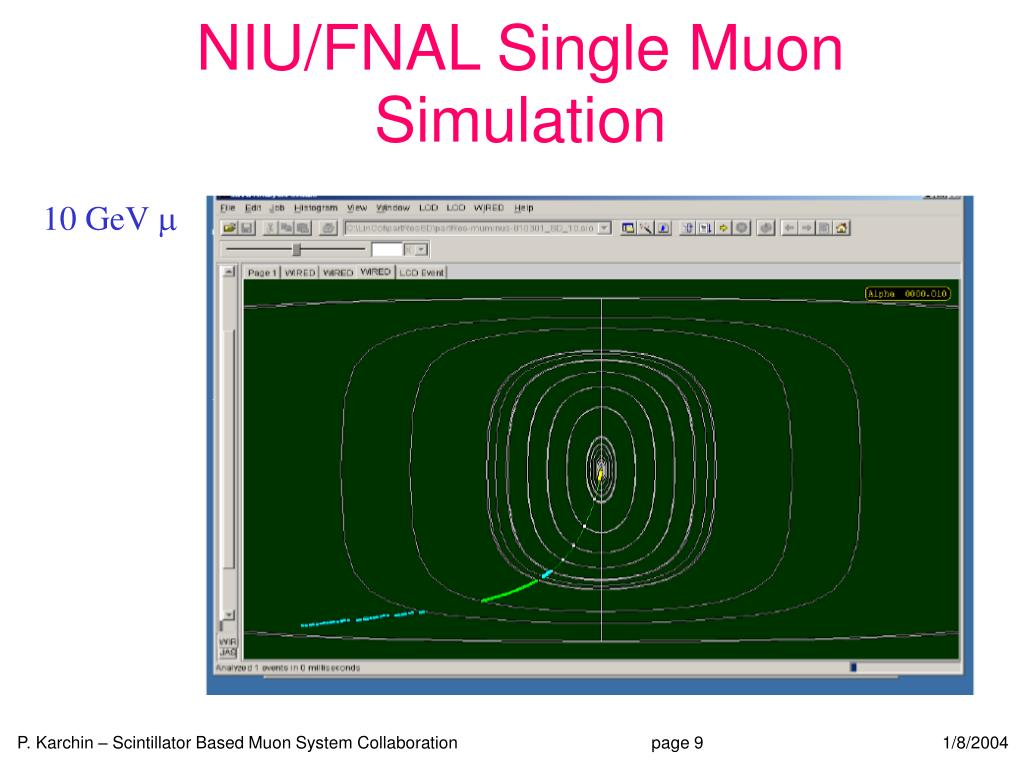 NIU/FNAL Single Muon Simulation