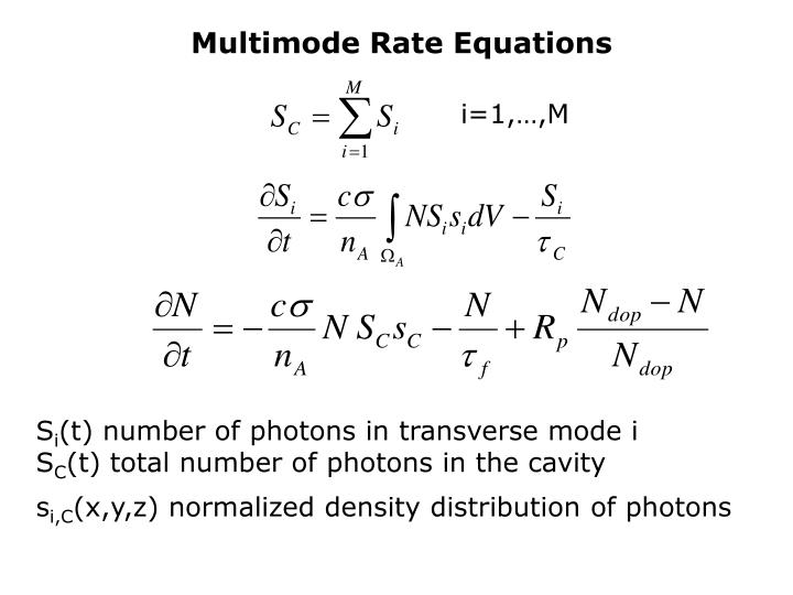 Multimode Rate Equations