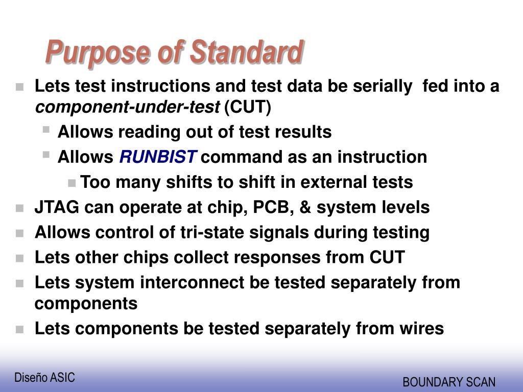 Purpose of Standard