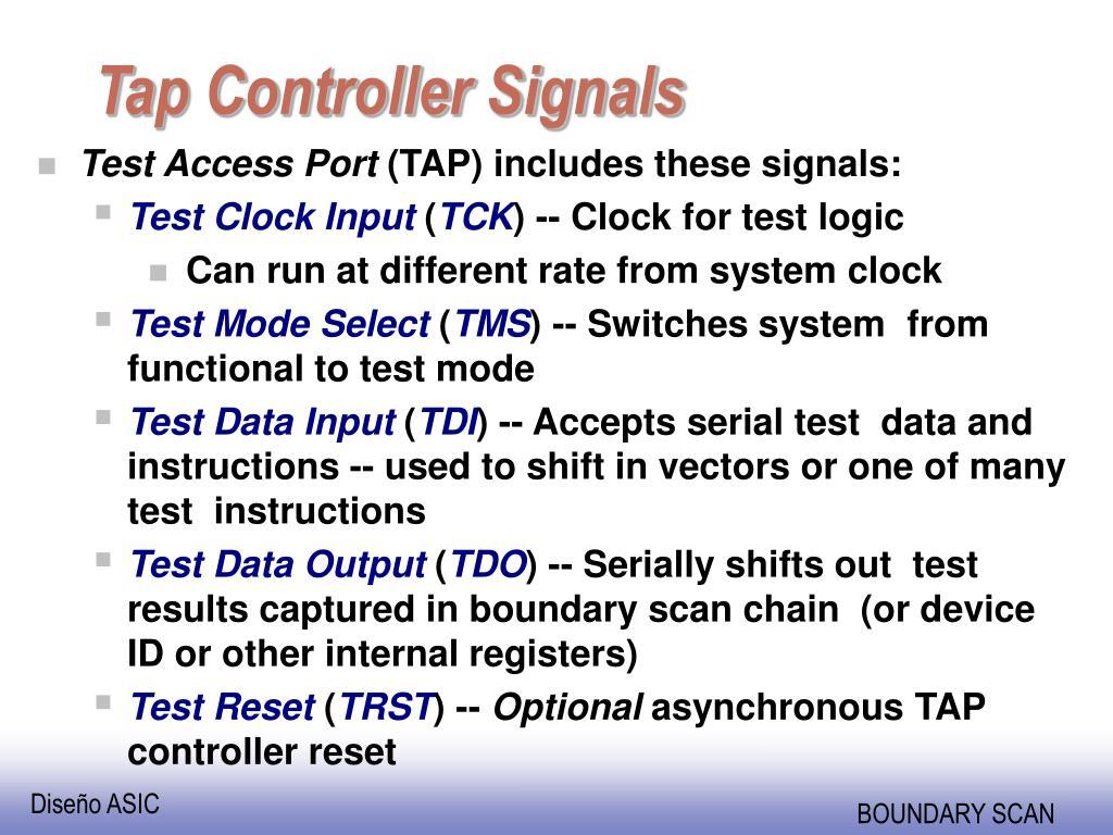 Tap Controller Signals
