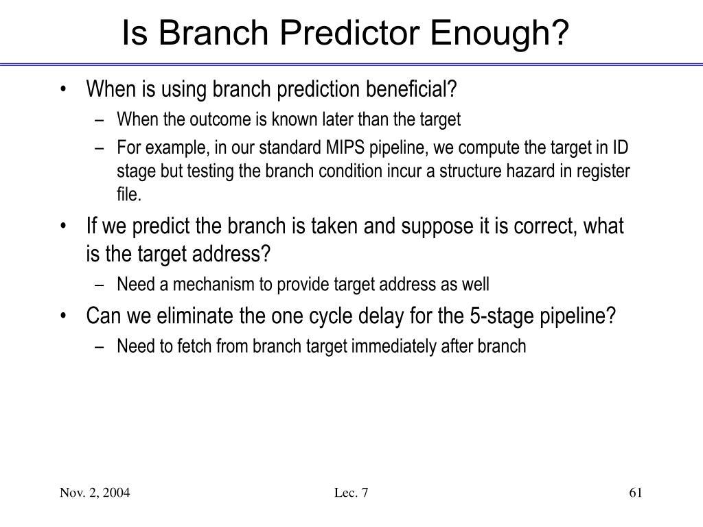 Is Branch Predictor Enough?