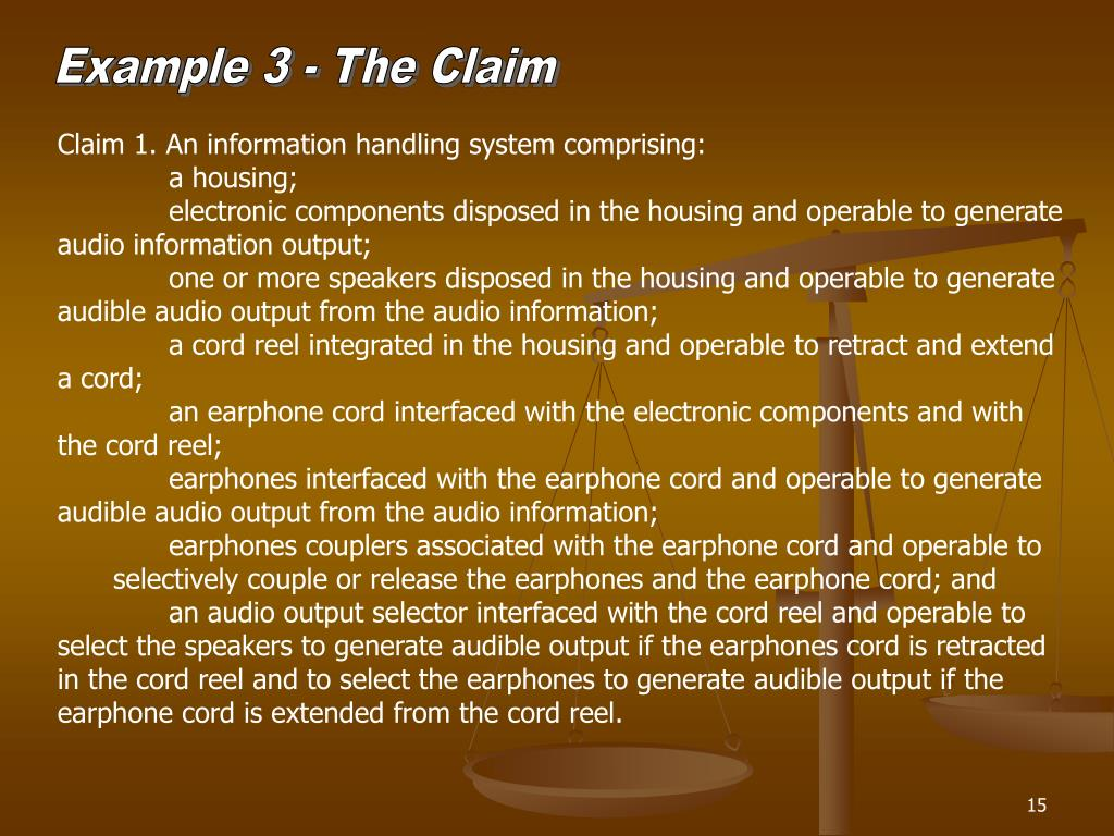 Example 3 - The Claim
