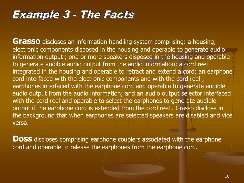 Example 3 - The Facts