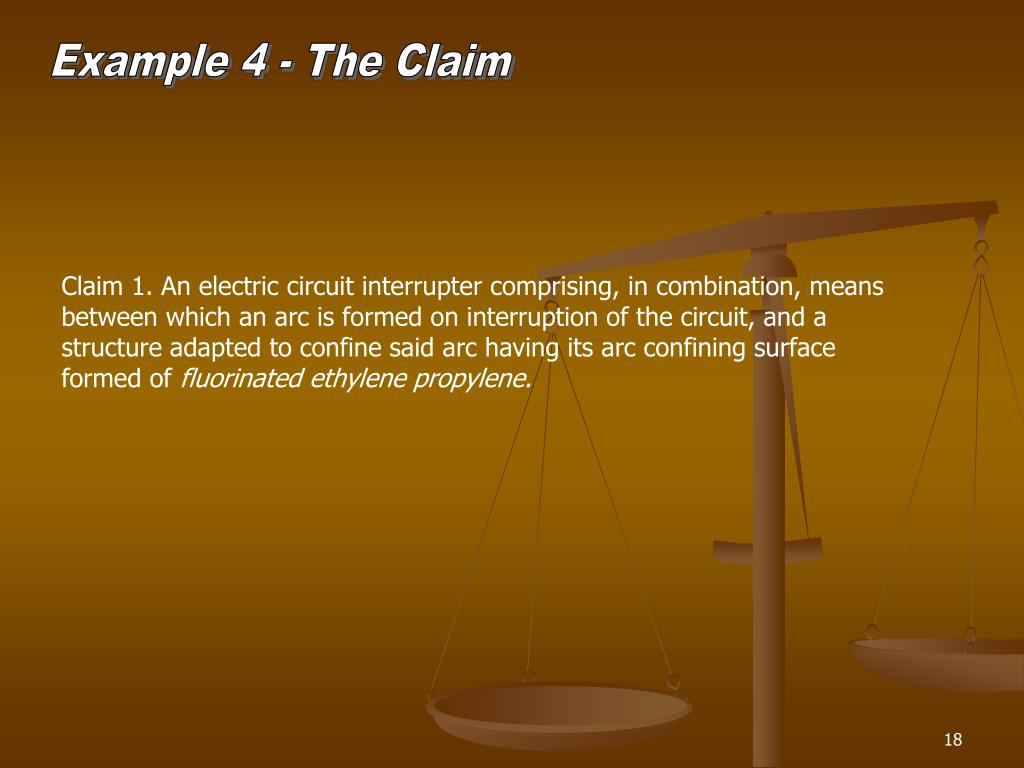 Example 4 - The Claim