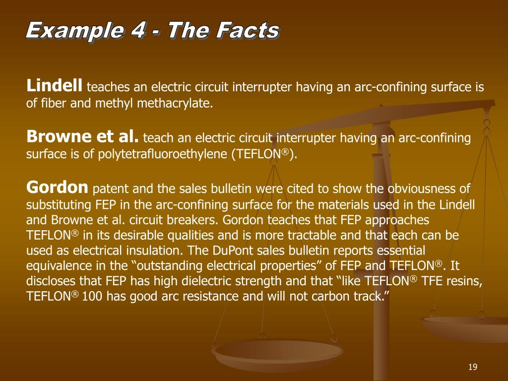 Example 4 - The Facts