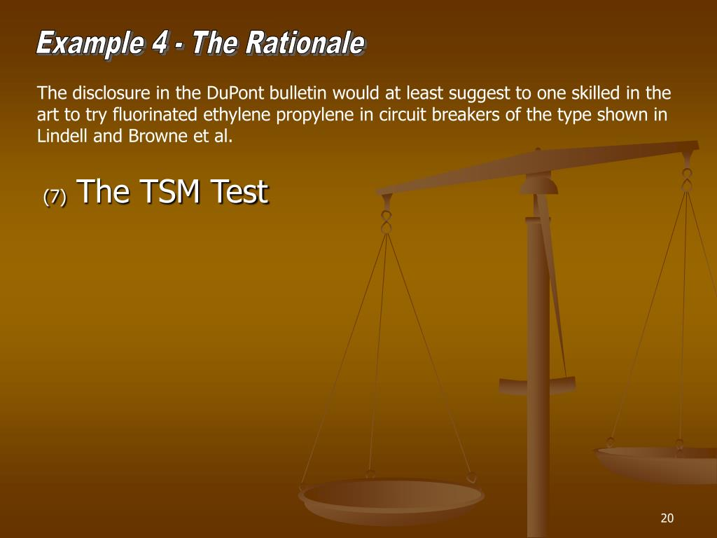 Example 4 - The Rationale