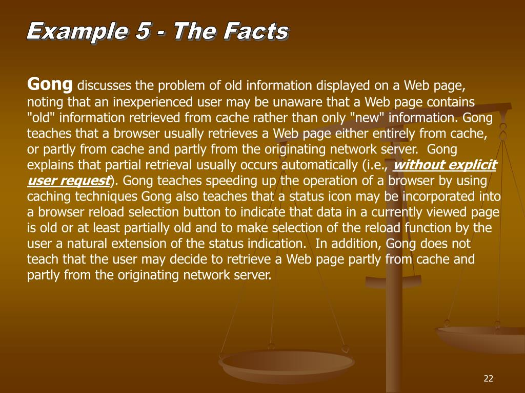 Example 5 - The Facts