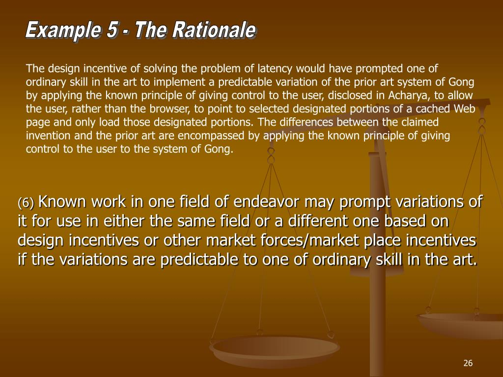 Example 5 - The Rationale