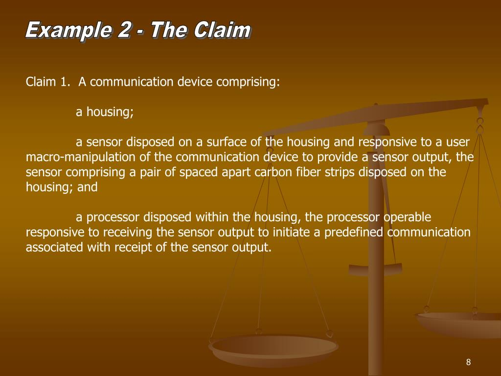Example 2 - The Claim