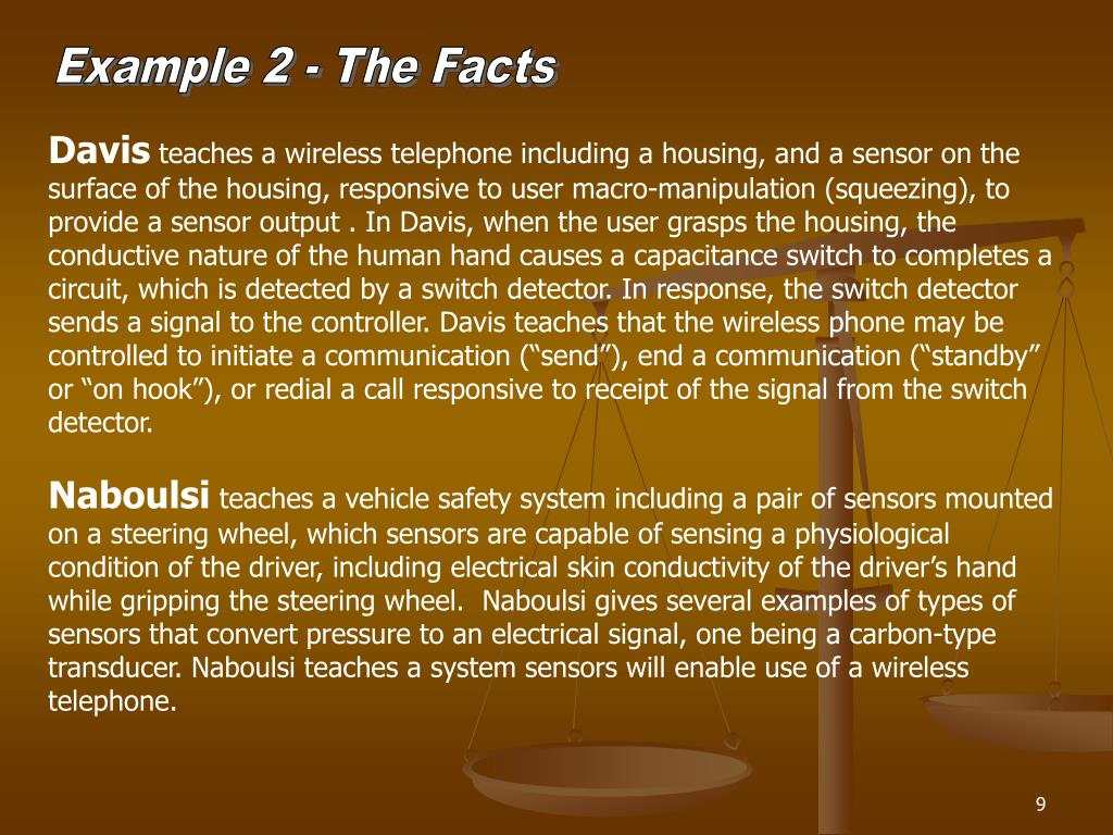 Example 2 - The Facts