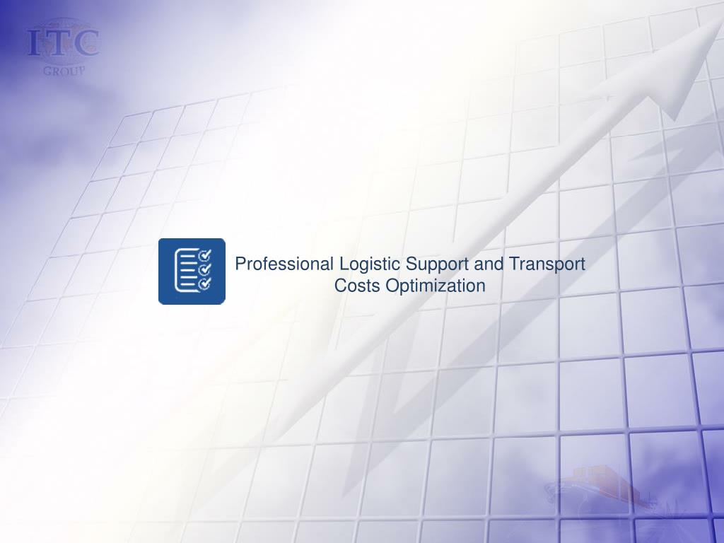 Professional Logistic Support and Transport Costs Optimization