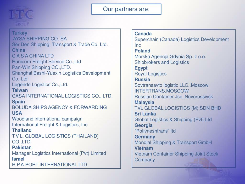 Our partners are: