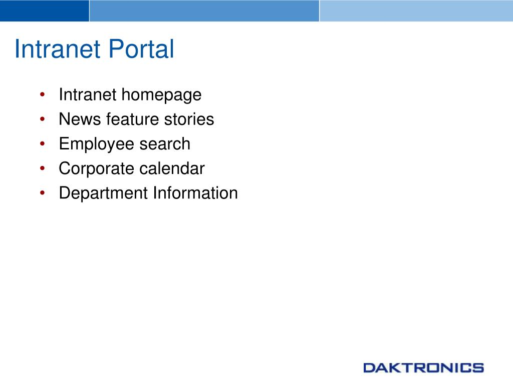 Intranet Portal