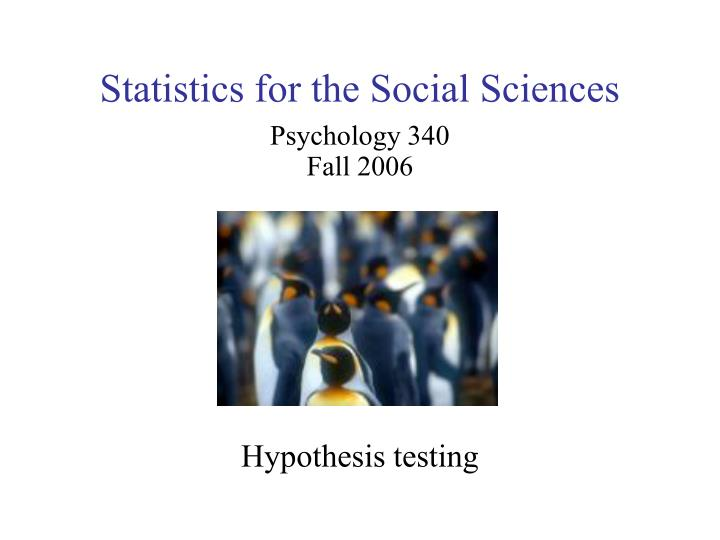Statistics for the social sciences l.jpg
