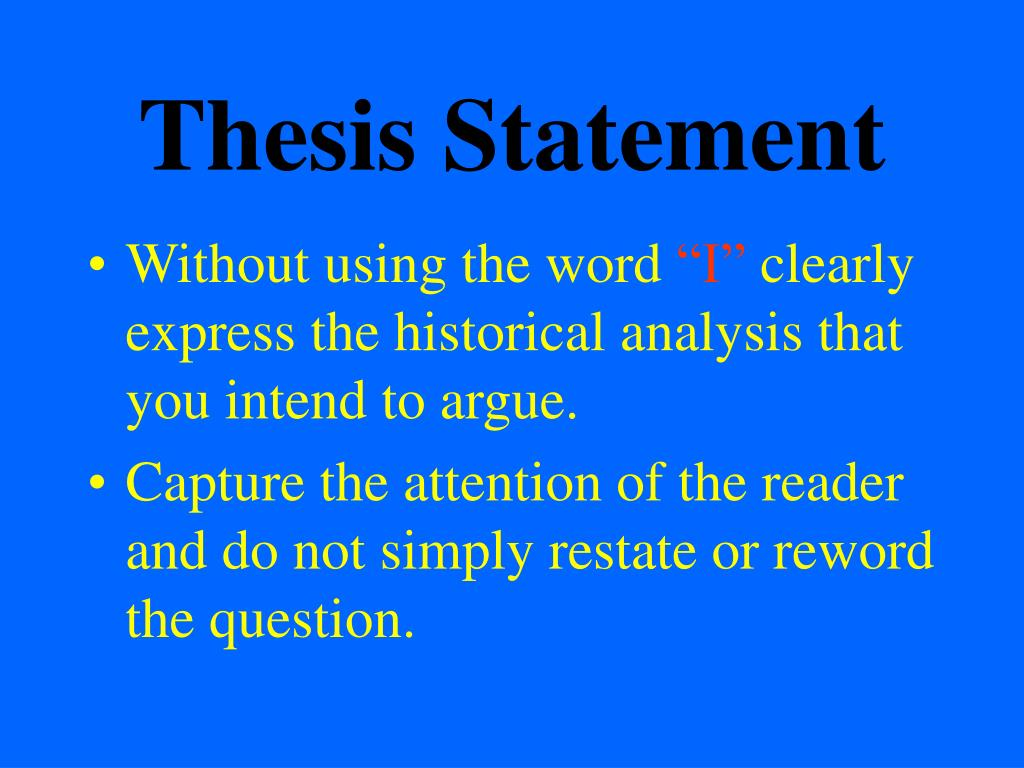 Thesis and topic sentences examples