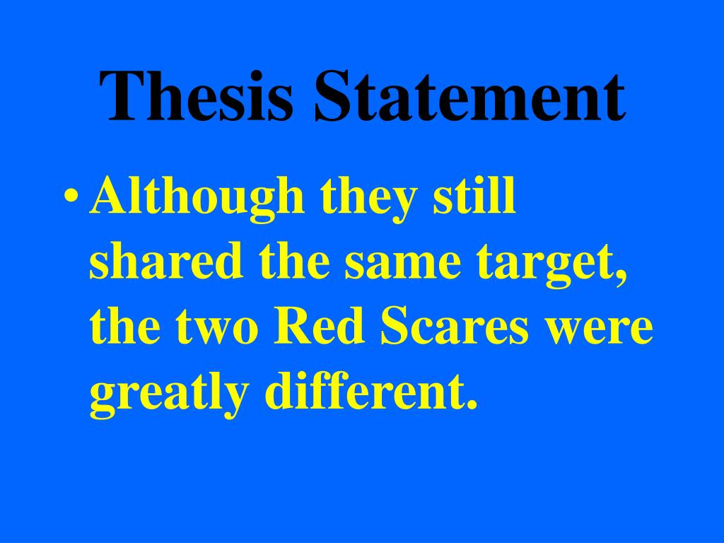 Examples of topic sentences and thesis statements
