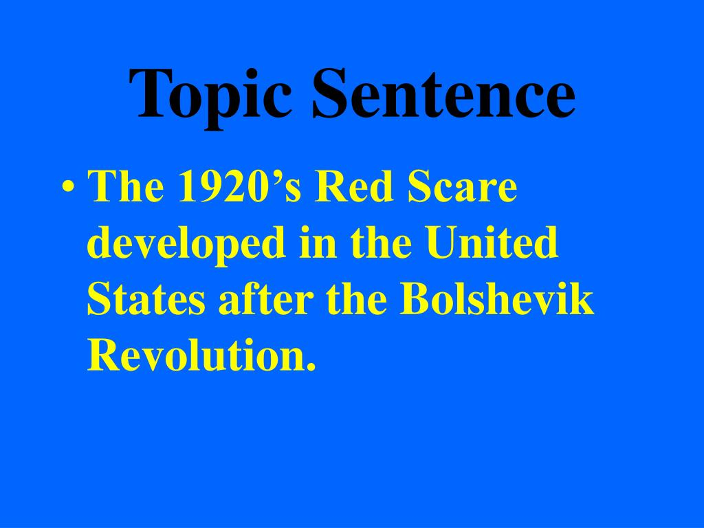 Thesis topic sentence