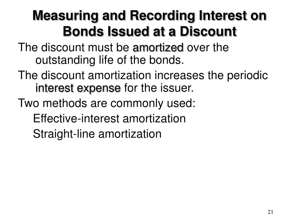 Measuring and Recording Interest on Bonds Issued at a Discount