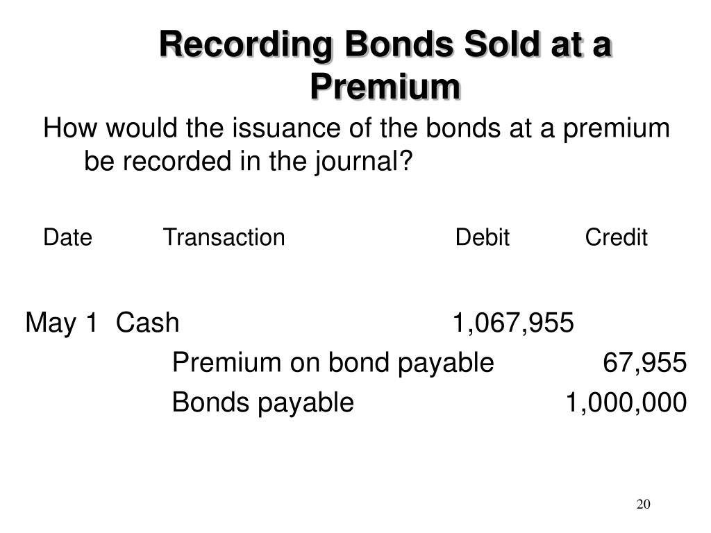 Recording Bonds Sold at a Premium