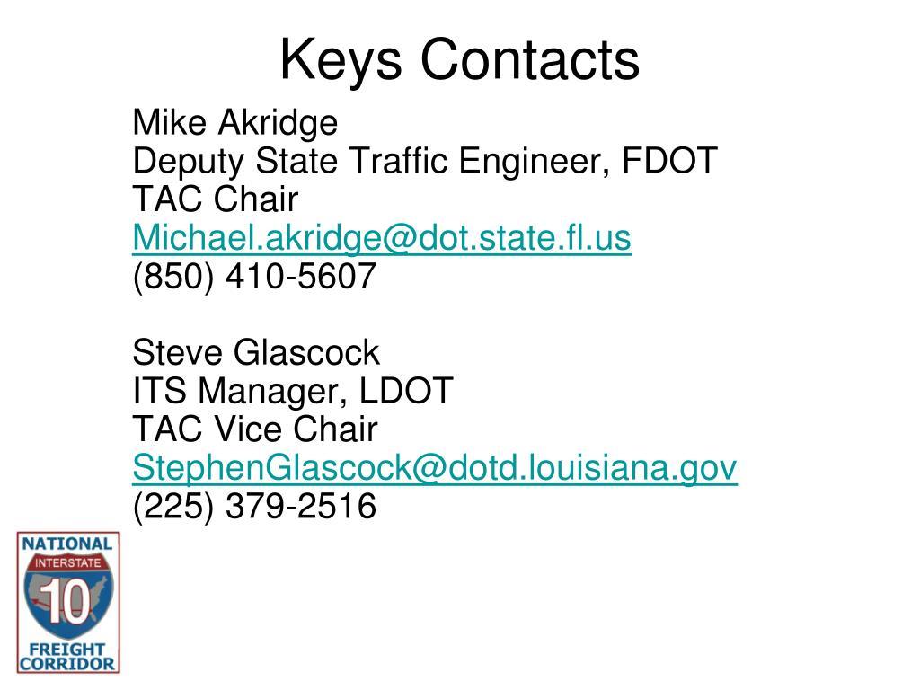 Keys Contacts